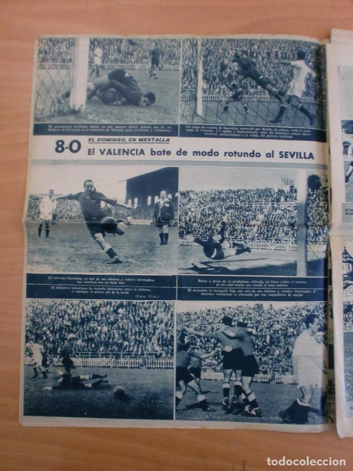 Coleccionismo deportivo: 19/10/1943 Nº 47 MADRID 3 AT. AVIACION 2 VALENCIA 8 SEVILLA 0 SABADELL 1 CASTELLON 0 LUCHA LIBRE - Foto 5 - 119546523