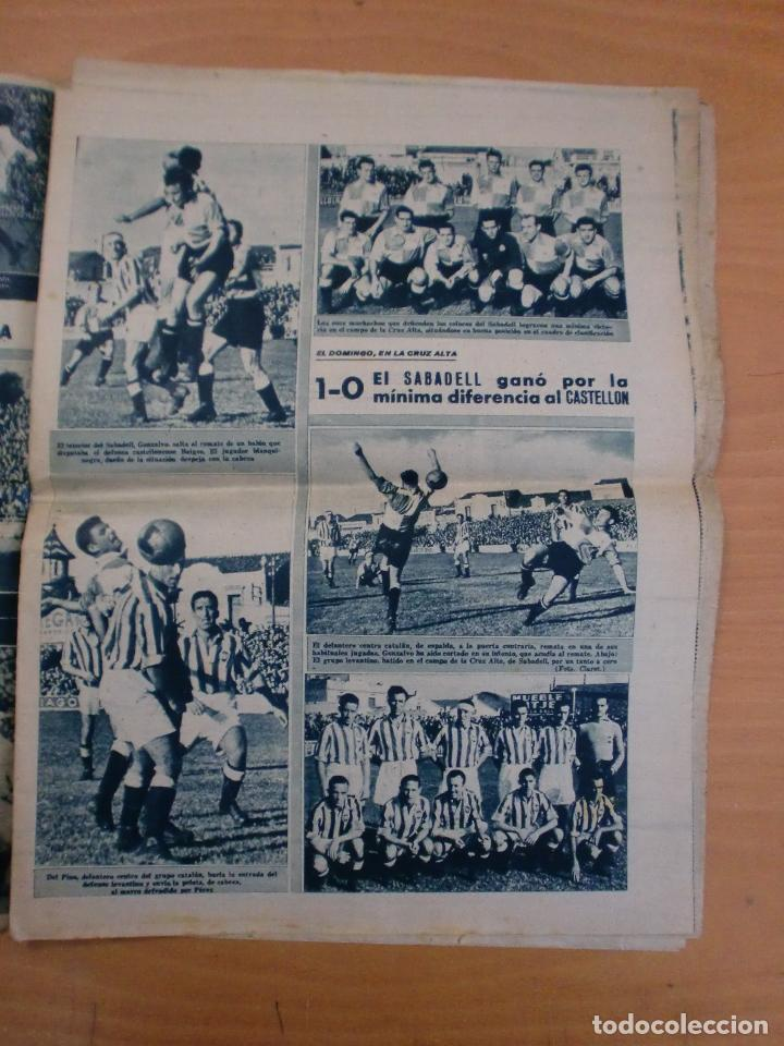 Coleccionismo deportivo: 19/10/1943 Nº 47 MADRID 3 AT. AVIACION 2 VALENCIA 8 SEVILLA 0 SABADELL 1 CASTELLON 0 LUCHA LIBRE - Foto 6 - 119546523