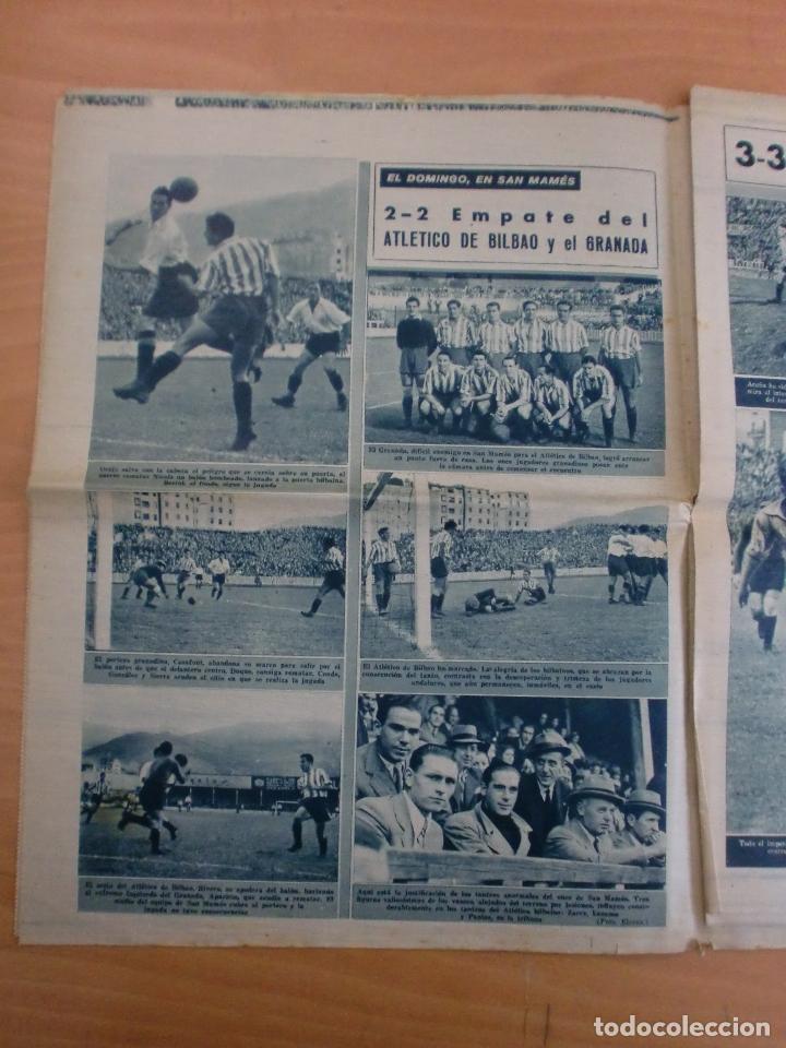 Coleccionismo deportivo: 19/10/1943 Nº 47 MADRID 3 AT. AVIACION 2 VALENCIA 8 SEVILLA 0 SABADELL 1 CASTELLON 0 LUCHA LIBRE - Foto 8 - 119546523