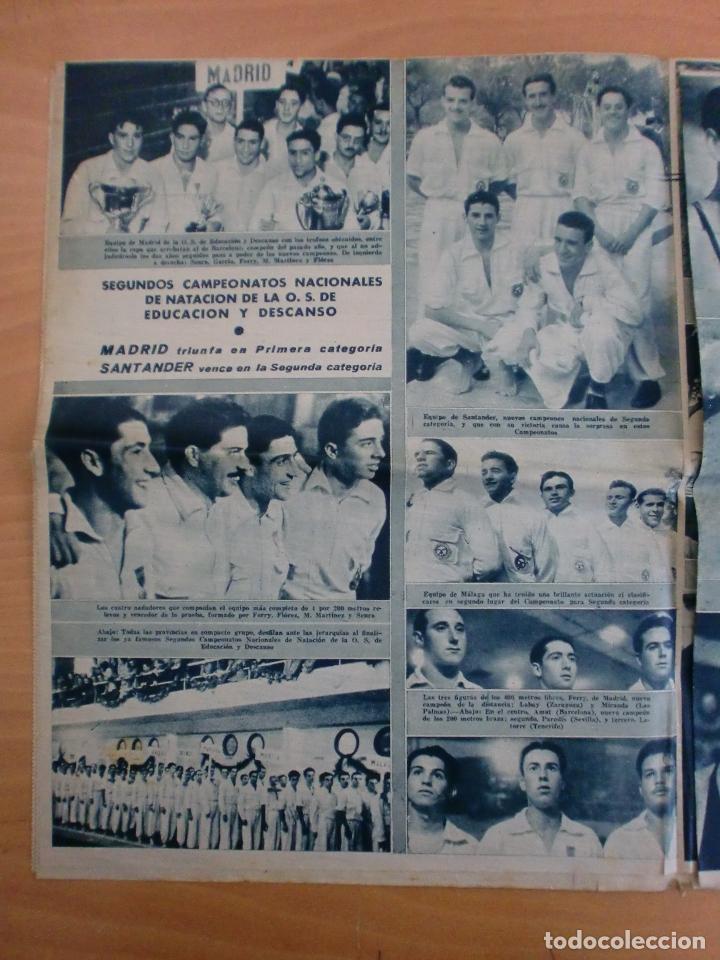 Coleccionismo deportivo: 19/10/1943 Nº 47 MADRID 3 AT. AVIACION 2 VALENCIA 8 SEVILLA 0 SABADELL 1 CASTELLON 0 LUCHA LIBRE - Foto 9 - 119546523
