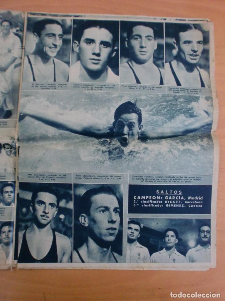 Coleccionismo deportivo: 19/10/1943 Nº 47 MADRID 3 AT. AVIACION 2 VALENCIA 8 SEVILLA 0 SABADELL 1 CASTELLON 0 LUCHA LIBRE - Foto 10 - 119546523