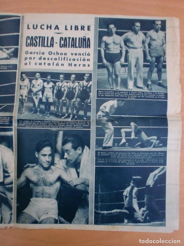 Coleccionismo deportivo: 19/10/1943 Nº 47 MADRID 3 AT. AVIACION 2 VALENCIA 8 SEVILLA 0 SABADELL 1 CASTELLON 0 LUCHA LIBRE - Foto 11 - 119546523