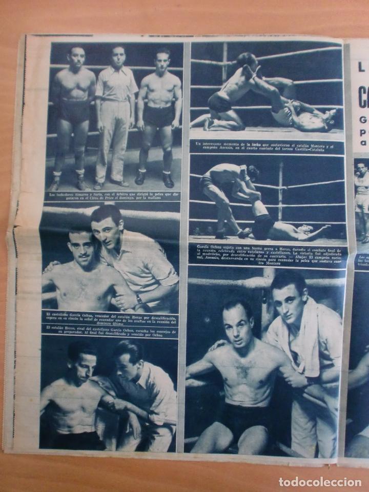 Coleccionismo deportivo: 19/10/1943 Nº 47 MADRID 3 AT. AVIACION 2 VALENCIA 8 SEVILLA 0 SABADELL 1 CASTELLON 0 LUCHA LIBRE - Foto 12 - 119546523