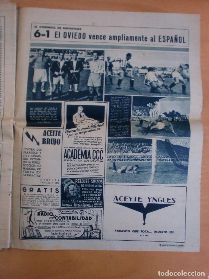 Coleccionismo deportivo: 19/10/1943 Nº 47 MADRID 3 AT. AVIACION 2 VALENCIA 8 SEVILLA 0 SABADELL 1 CASTELLON 0 LUCHA LIBRE - Foto 19 - 119546523