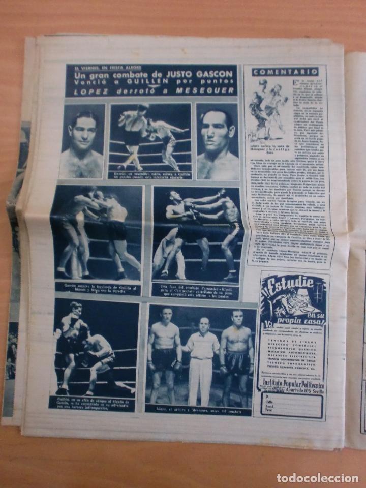Coleccionismo deportivo: 19/10/1943 Nº 47 MADRID 3 AT. AVIACION 2 VALENCIA 8 SEVILLA 0 SABADELL 1 CASTELLON 0 LUCHA LIBRE - Foto 20 - 119546523