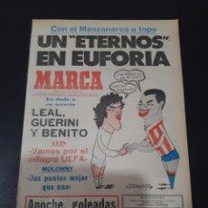 Colecionismo desportivo: MARCA. 9/04/1978. BARCELONA,3 - BURGOS,0. VALENCIA,7 - RAYO,0. JORNADA 29.. Lote 119875048