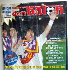 Coleccionismo deportivo: DON BALON Nº1025 POSTER ESPECIAL MÉRIDA CP LIGA 94/95 REAL MADRID CAMPEON LIGA FÚTBOL. Lote 119993263