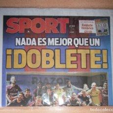 Coleccionismo deportivo: PERIODICO SPORT NUEVO BARCELONA CAMPEON LIGA TEMPORADA 2017 2018 17 18. Lote 120096195