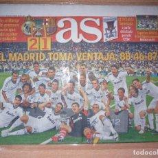 Coleccionismo deportivo: PERIODICO AS NUEVO REAL MADRID CAMPEON SUPERCOPA ESPAÑA TEMPORADA 2012 2013 12 13. Lote 120099795