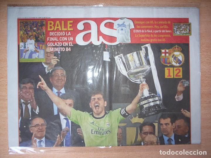 PERIODICO AS NUEVO REAL MADRID CAMPEON COPA DEL REY TEMPORADA 2013 2014 13 14 (Coleccionismo Deportivo - Revistas y Periódicos - As)