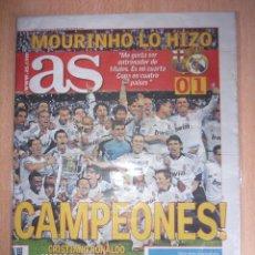 Coleccionismo deportivo: PERIODICO AS NUEVO REAL MADRID CAMPEON COPA DEL REY TEMPORADA 2010 2011 10 11. Lote 120100255