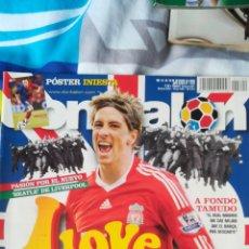 Coleccionismo deportivo: DON BALON NÚMERO 1722 FERNANDO TORRES, PÓSTER INIESTA, APÉNDICE LIGA 08/09. Lote 120122980