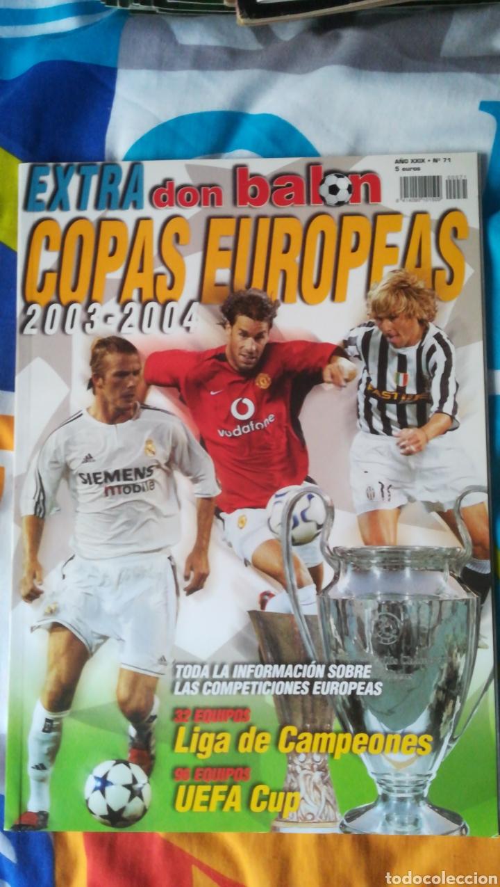 DON BALON NÚMERO 71 EXTRA COPAS EUROPEAS 2003 2004 (Coleccionismo Deportivo - Revistas y Periódicos - Don Balón)