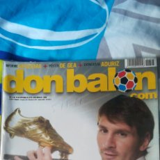 Coleccionismo deportivo: DON BALON NÚMERO 1823 CON ESPECIAL MESSI BOTA DE ORO. Lote 120131858