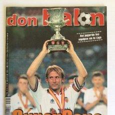 Coleccionismo deportivo: REVISTA DON BALÓN AGOSTO 1999 Nº1244 VALENCIA CF CAMPEÓN SUPERCOPA. Lote 120773287