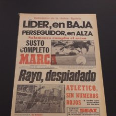 Colecionismo desportivo: MARCA. 23/01/1978. BURGOS,2 - LAS PALMAS,1. VALENCIA,1 - AT.MADRID,1. RESUMEN JORNADA LIGA N° 18.. Lote 121136754