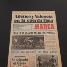 Colecionismo desportivo: MARCA. 16/02/1978. COPA. ATLÉTICO,3 - LAS PALMAS,2. ALAVÉS,1 - BARCELONA,0.. Lote 121139635