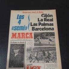 Collectionnisme sportif: MARCA. 23/02/1978. COPA. LAS PALMAS,2 - AT.MADRID,0. REAL SOCIEDAD,4 - VALENCIA,1. BARCELONA,2 - ALÉ. Lote 121142484
