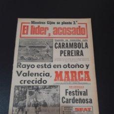 Colecionismo desportivo: MARCA. 20/03/1978. VALENCIA,2 - R.MADRID,0. RAYO,0 - BURGOS,0. RESUMEN JORNADA LIGA N° 26.. Lote 121147499