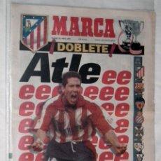 Coleccionismo deportivo: DIARIO MARCA 1996 - HISTORICO DOBLETE DEL ATLETICO DE MADRID. Lote 51779674