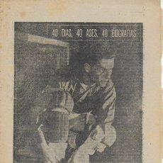 Collectionnisme sportif: JORGE TRIAS. EL PRIMER MOSQUETERO DEL STICK. ( HOQUEY ). MARCA,30 JULIO 1964. 24X16 CM. 8 P.. Lote 121701927