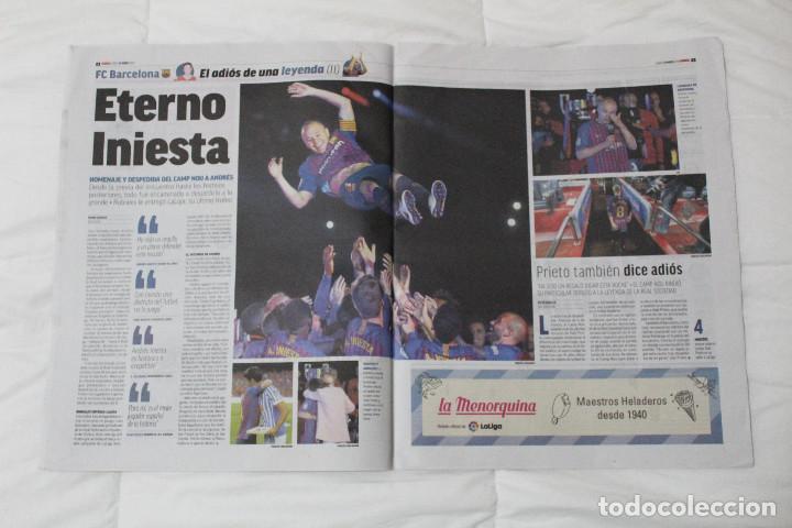 Coleccionismo deportivo: DIARIO MARCA.REAL MADRID CAMPEÓN EUROLIGA BALONCESTO 2018. FINAL LA LIGA Y RETIRADA INIESTA Y TORRES - Foto 4 - 121899459