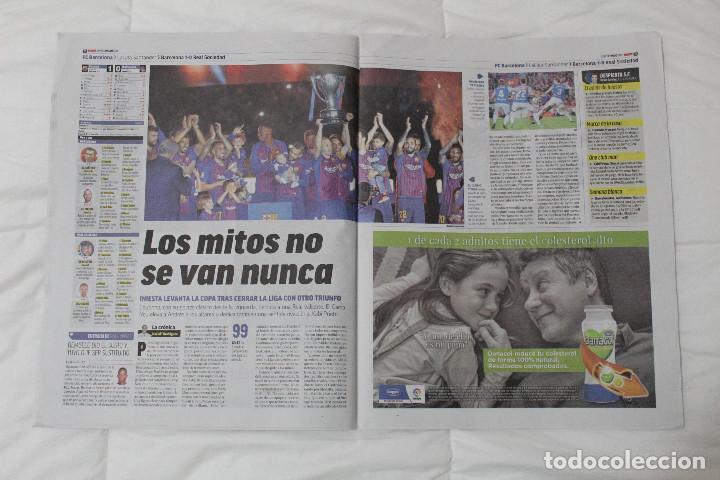 Coleccionismo deportivo: DIARIO MARCA.REAL MADRID CAMPEÓN EUROLIGA BALONCESTO 2018. FINAL LA LIGA Y RETIRADA INIESTA Y TORRES - Foto 5 - 121899459