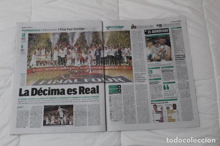 Coleccionismo deportivo: DIARIO MARCA.REAL MADRID CAMPEÓN EUROLIGA BALONCESTO 2018. FINAL LA LIGA Y RETIRADA INIESTA Y TORRES - Foto 6 - 121899459