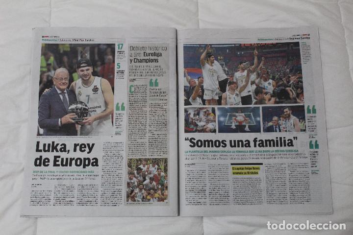 Coleccionismo deportivo: DIARIO MARCA.REAL MADRID CAMPEÓN EUROLIGA BALONCESTO 2018. FINAL LA LIGA Y RETIRADA INIESTA Y TORRES - Foto 7 - 121899459