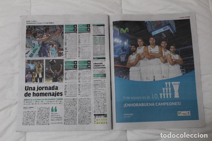 Coleccionismo deportivo: DIARIO MARCA.REAL MADRID CAMPEÓN EUROLIGA BALONCESTO 2018. FINAL LA LIGA Y RETIRADA INIESTA Y TORRES - Foto 8 - 121899459