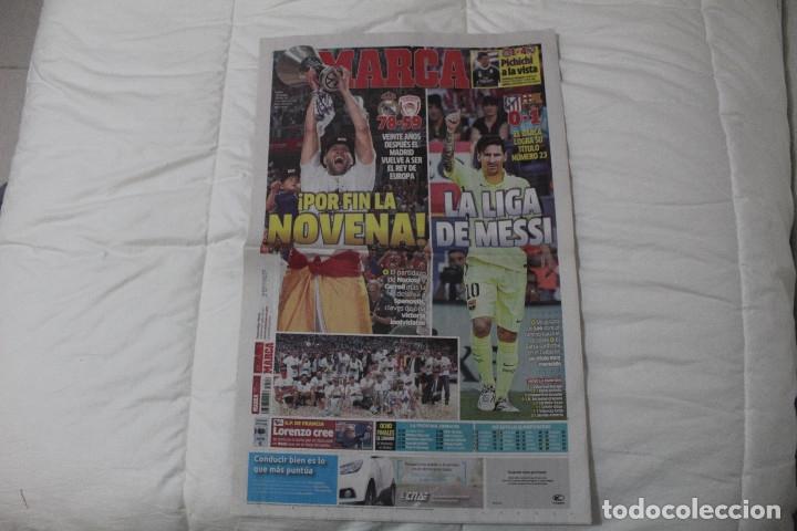 DIARIO MARCA. POR FIN LA NOVENA! REAL MADRID CAMPEÓN DE LA EUROLIGA 2015 BALONCESTO LA LIGA DE MESSI (Coleccionismo Deportivo - Revistas y Periódicos - Marca)