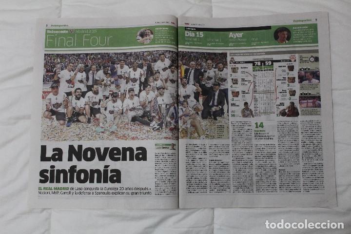 Coleccionismo deportivo: Diario MARCA. POR FIN LA NOVENA! REAL MADRID CAMPEÓN DE LA EUROLIGA 2015 BALONCESTO LA LIGA DE MESSI - Foto 2 - 51360619