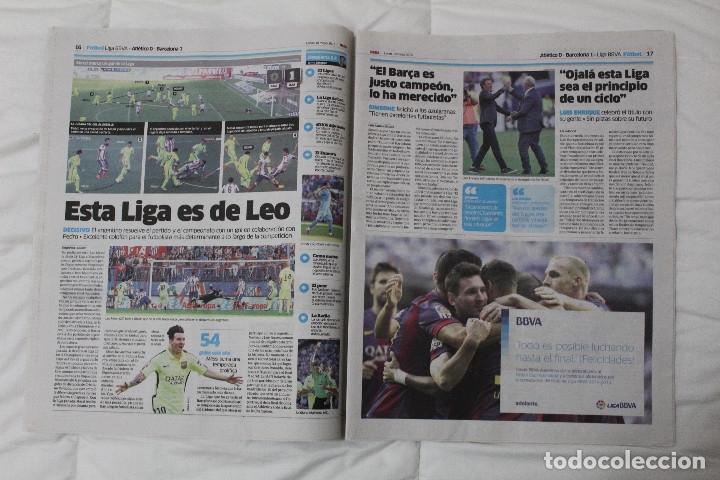 Coleccionismo deportivo: Diario MARCA. POR FIN LA NOVENA! REAL MADRID CAMPEÓN DE LA EUROLIGA 2015 BALONCESTO LA LIGA DE MESSI - Foto 6 - 51360619