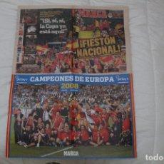 Coleccionismo deportivo: DIARIO MARCA. 01 JULIO 2008. FIESTÓN NACIONAL Y PÓSTER ESPAÑA EUROCOPA 2008.. Lote 51361022