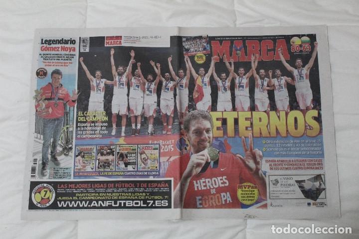 DIARIO MARCA. 23/09/2015 ESPAÑA CAMPEÓN DE EUROPA BALONCESTO 2015 (Coleccionismo Deportivo - Revistas y Periódicos - Marca)