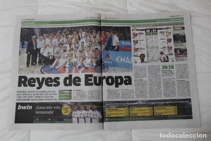 Coleccionismo deportivo: Diario Marca. 23/09/2015 España Campeón de Europa Baloncesto 2015 - Foto 2 - 51882898