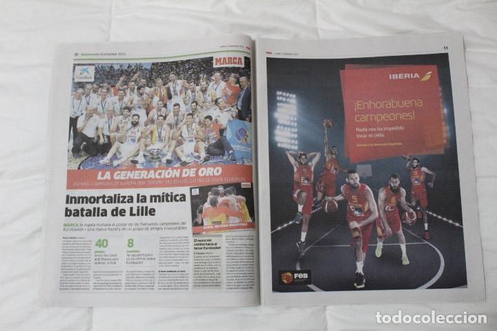 Coleccionismo deportivo: Diario Marca. 23/09/2015 España Campeón de Europa Baloncesto 2015 - Foto 5 - 51882898