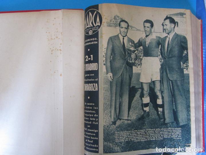 MARCA. SEMANARIO GRÁFICO DE LOS DEPORTES. 41 NÚMEROS EN UN SOLO VOLUMEN, 1942 1943. (Coleccionismo Deportivo - Revistas y Periódicos - Marca)