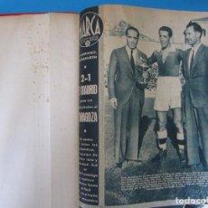 Coleccionismo deportivo: MARCA. SEMANARIO GRÁFICO DE LOS DEPORTES. 41 NÚMEROS EN UN SOLO VOLUMEN, 1942 1943.. Lote 122100175