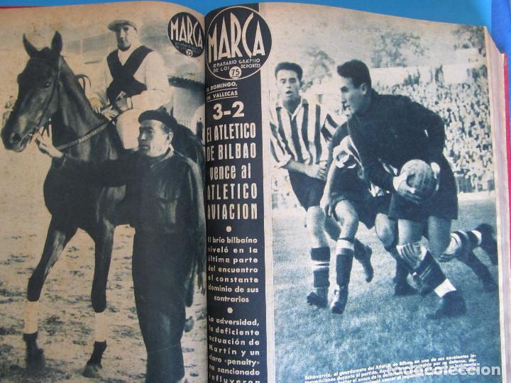 Coleccionismo deportivo: MARCA. SEMANARIO GRÁFICO DE LOS DEPORTES. 41 NÚMEROS EN UN SOLO VOLUMEN, 1942 1943. - Foto 4 - 122100175