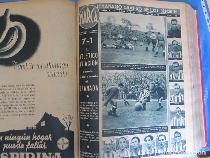 Coleccionismo deportivo: MARCA. SEMANARIO GRÁFICO DE LOS DEPORTES. 41 NÚMEROS EN UN SOLO VOLUMEN, 1942 1943. - Foto 5 - 122100175
