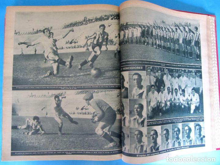 Coleccionismo deportivo: MARCA. SEMANARIO GRÁFICO DE LOS DEPORTES. 41 NÚMEROS EN UN SOLO VOLUMEN, 1942 1943. - Foto 8 - 122100175