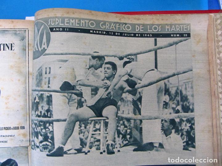 Coleccionismo deportivo: MARCA. SEMANARIO GRÁFICO DE LOS DEPORTES. 41 NÚMEROS EN UN SOLO VOLUMEN, 1942 1943. - Foto 9 - 122100175