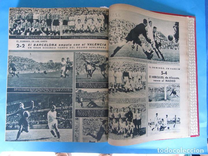 Coleccionismo deportivo: MARCA. SEMANARIO GRÁFICO DE LOS DEPORTES. 41 NÚMEROS EN UN SOLO VOLUMEN, 1942 1943. - Foto 11 - 122100175