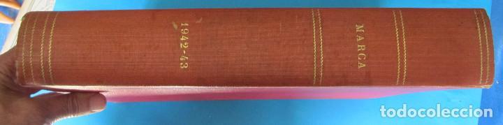 Coleccionismo deportivo: MARCA. SEMANARIO GRÁFICO DE LOS DEPORTES. 41 NÚMEROS EN UN SOLO VOLUMEN, 1942 1943. - Foto 14 - 122100175