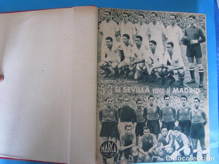 MARCA. SEMANARIO GRÁFICO DE LOS DEPORTES. 42 NÚMEROS EN UN SOLO VOLUMEN, 1943 1944. (Coleccionismo Deportivo - Revistas y Periódicos - Marca)