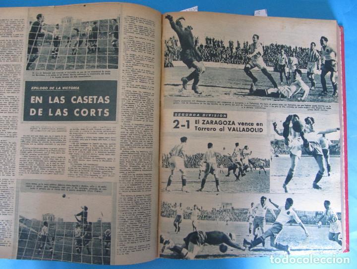 Coleccionismo deportivo: MARCA. SEMANARIO GRÁFICO DE LOS DEPORTES. 42 NÚMEROS EN UN SOLO VOLUMEN, 1943 1944. - Foto 3 - 122115391