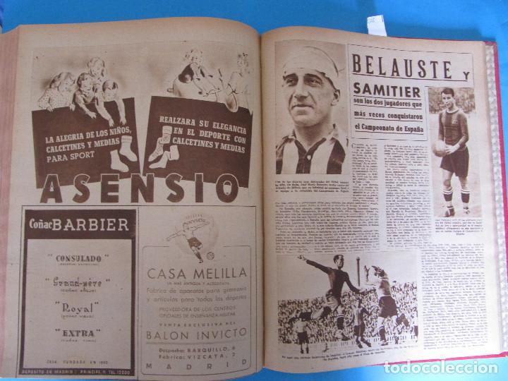 Coleccionismo deportivo: MARCA. SEMANARIO GRÁFICO DE LOS DEPORTES. 42 NÚMEROS EN UN SOLO VOLUMEN, 1943 1944. - Foto 4 - 122115391
