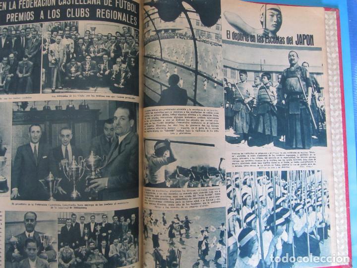 Coleccionismo deportivo: MARCA. SEMANARIO GRÁFICO DE LOS DEPORTES. 42 NÚMEROS EN UN SOLO VOLUMEN, 1943 1944. - Foto 6 - 122115391