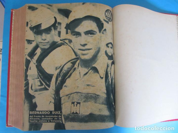 Coleccionismo deportivo: MARCA. SEMANARIO GRÁFICO DE LOS DEPORTES. 42 NÚMEROS EN UN SOLO VOLUMEN, 1943 1944. - Foto 7 - 122115391
